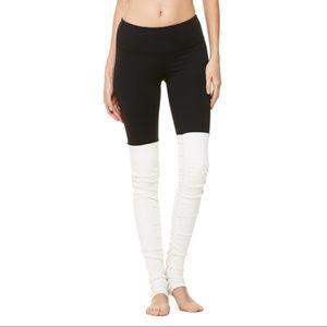 Alo Two Tone Goddess Legging Black White 3E6